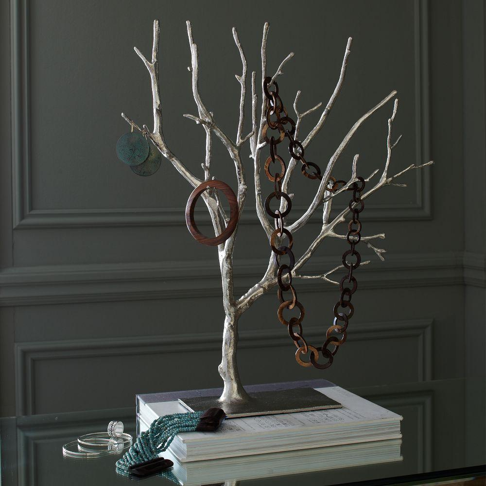 cast metal jewelry tree extra large