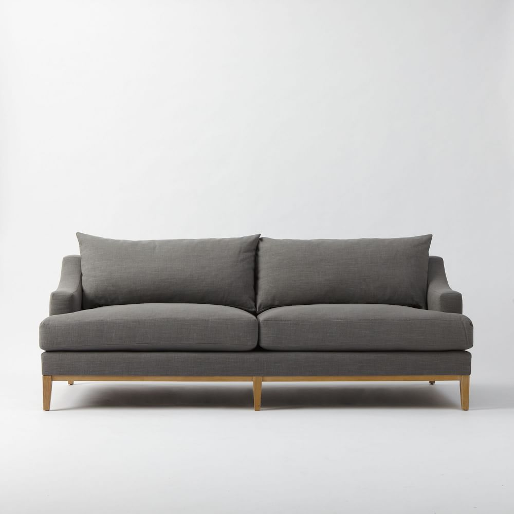 Montgomery Down Filled Sofa Pebble 222 Cm West Elm