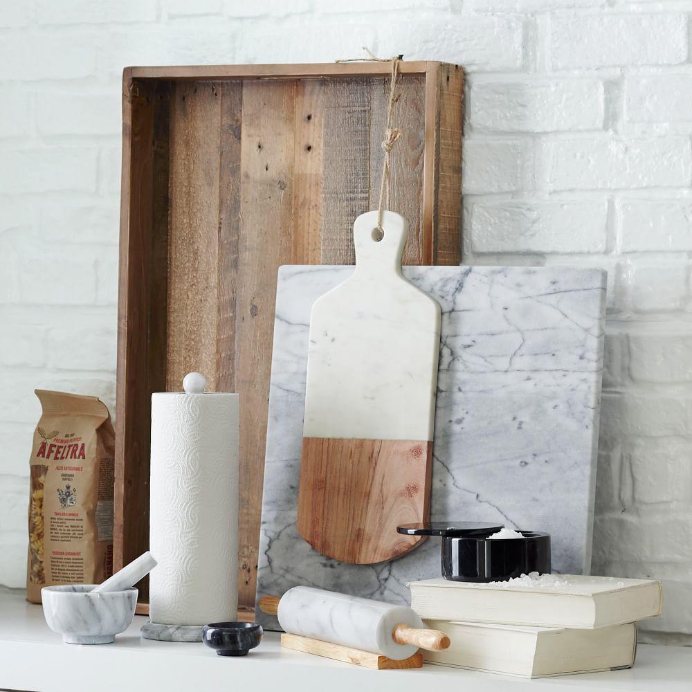 Marble + Wood Chopping Board