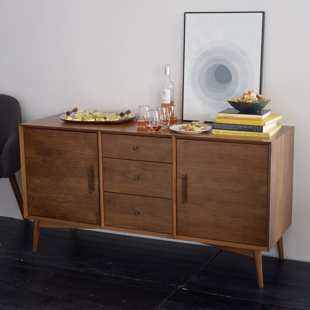 mid century buffet large west elm au. Black Bedroom Furniture Sets. Home Design Ideas