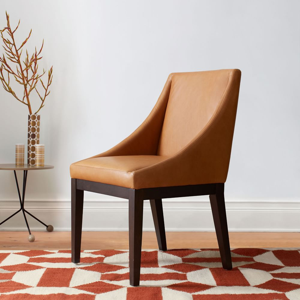 Curved Leather Chair