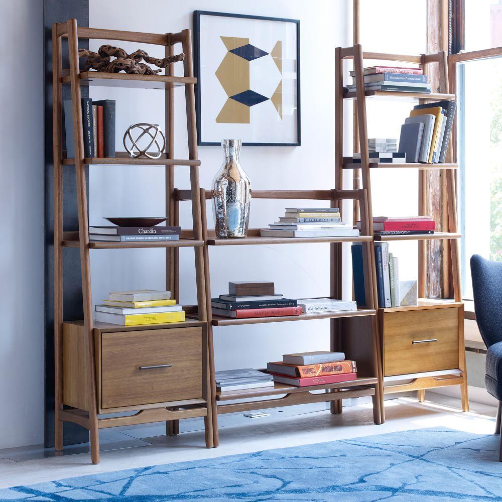 Mid Century 56 Cm Bookshelf