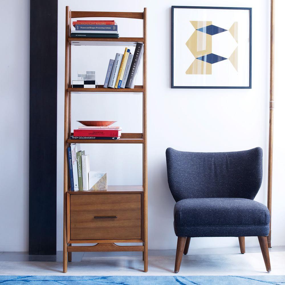 Mid-Century Bookshelf - Narrow (Acorn) - Mid-Century Bookshelf - Narrow (Acorn) West Elm AU