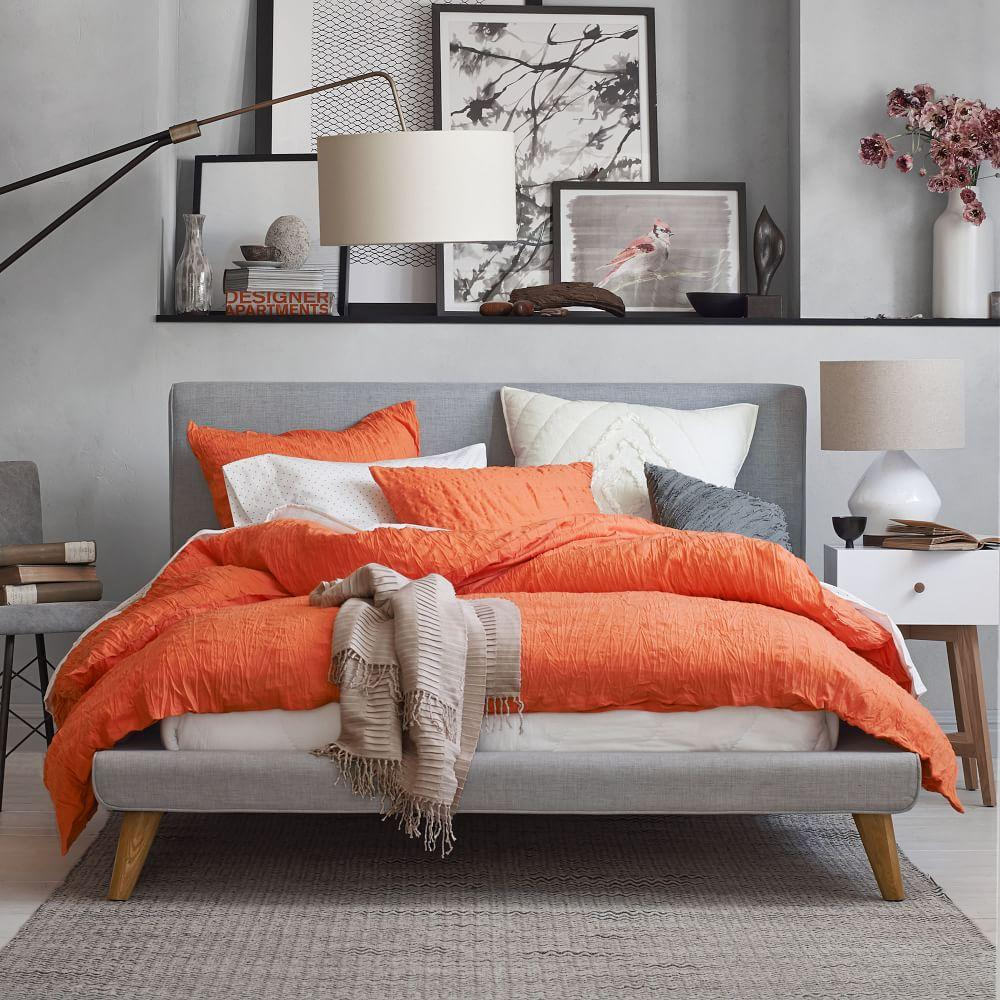 Mod Upholstered Bed - Feather Grey