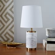 Small Pillar Table Lamp - Marble