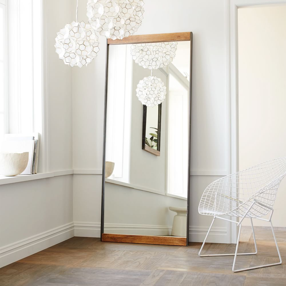 Metal + Wood Floor Mirror   west elm Australia