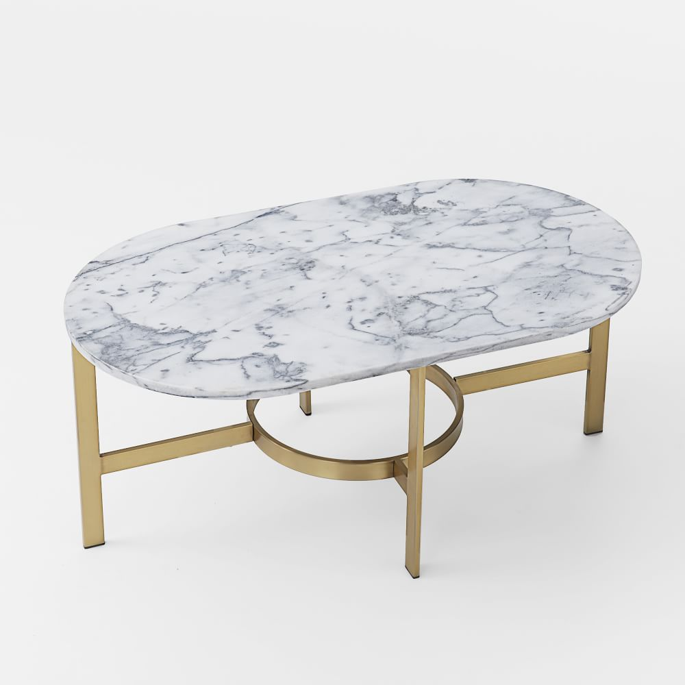 Etta Marble Coffee Table: Marble Oval Coffee Table