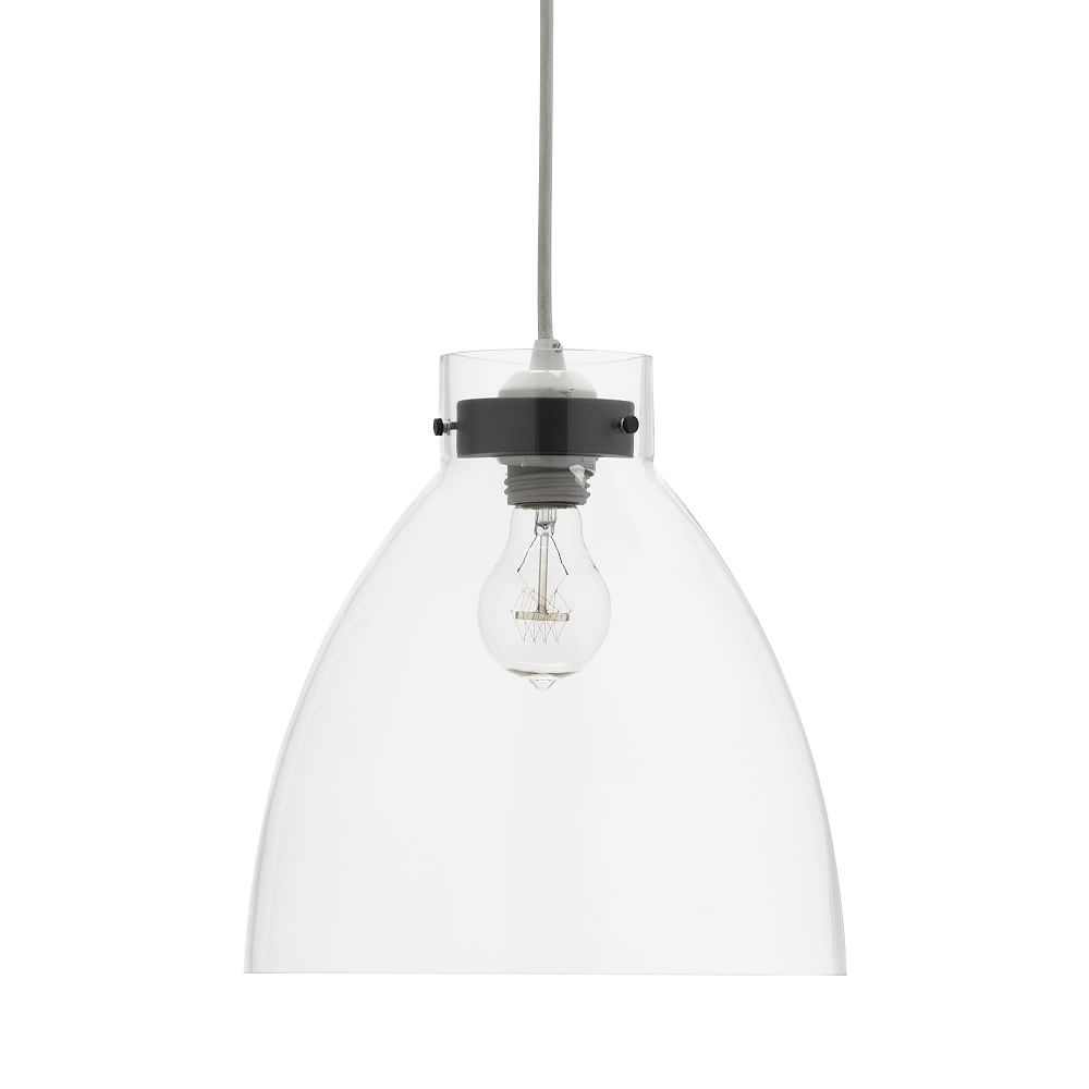 Industrial Pendant, Clear Glass