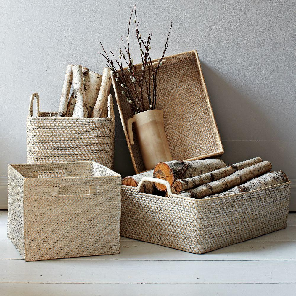 Home underbed storage baskets wicker underbed storage basket - Modern Weave Underbed Storage