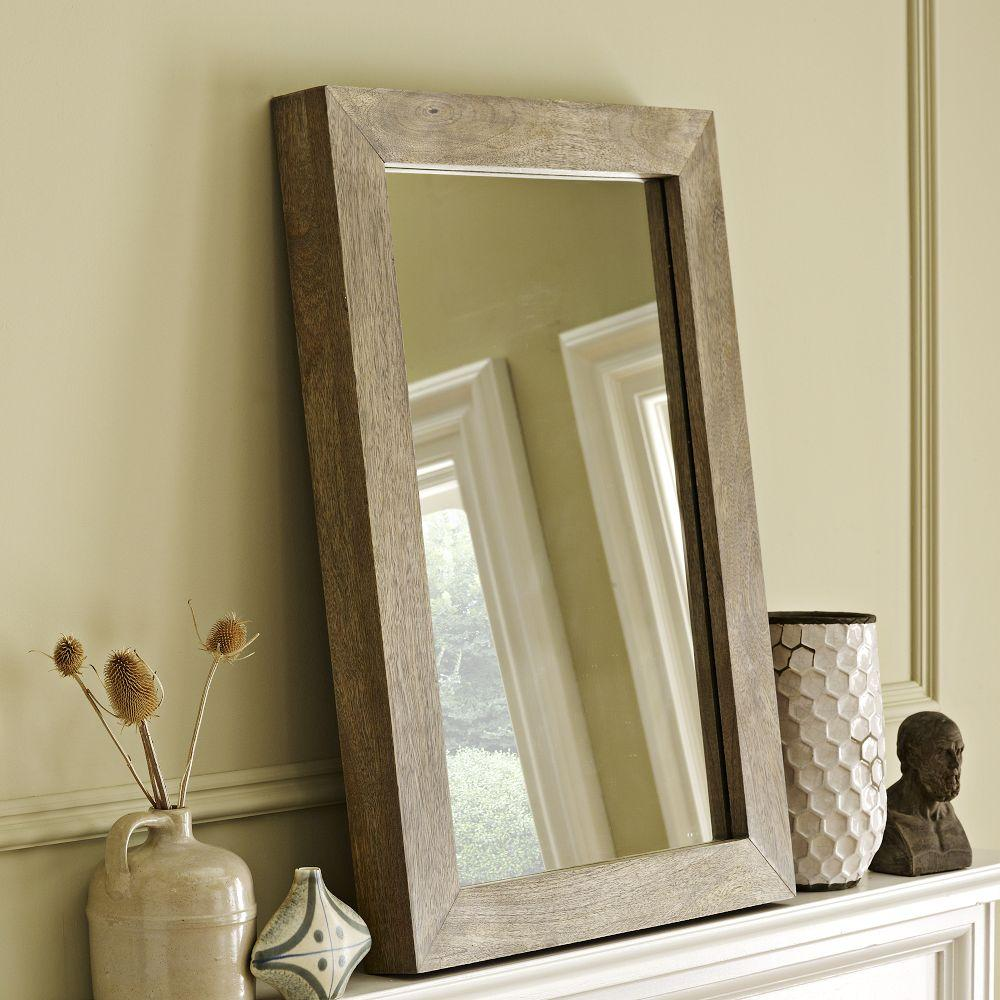 Parsons Wall Mirror Natural Solid Wood