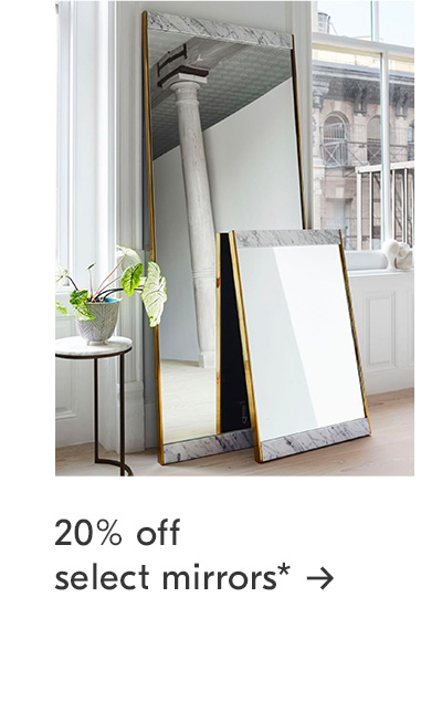 20% off select mirrors