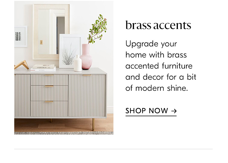 shop brass accents