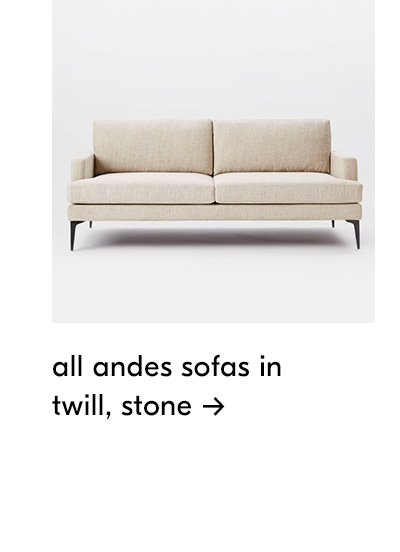 shop all andes sofas in twill stone