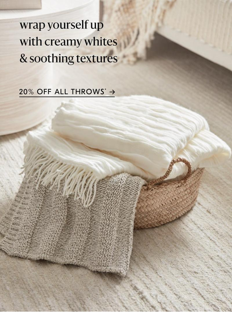 20% off all throws