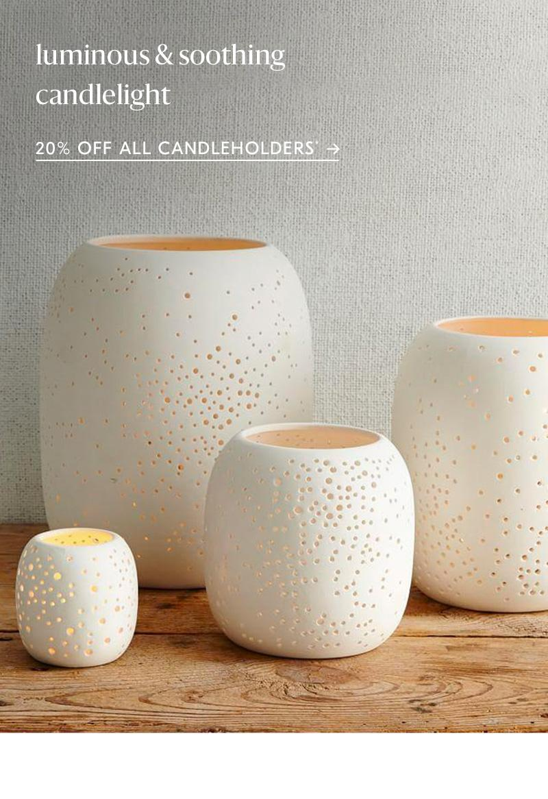 20% off all candleholders