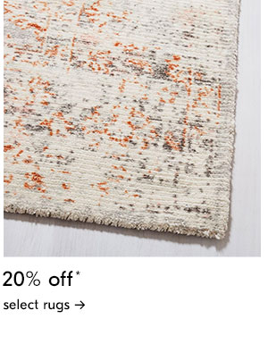 20% off select rugs