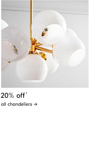 20% off all chandeliers