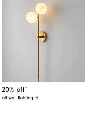 20% off all wall lighting