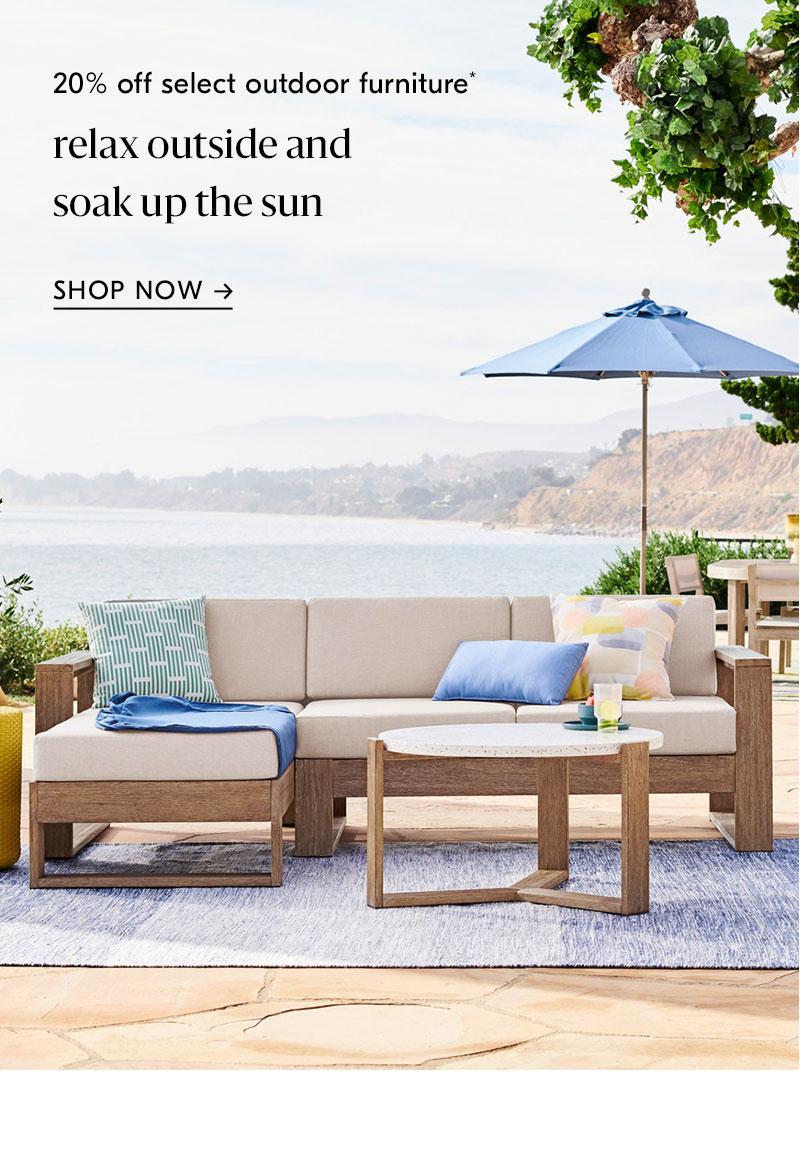 20% off select outdoor furniture