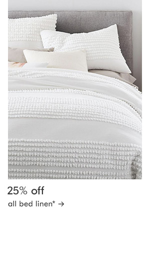 25% off all bed linen
