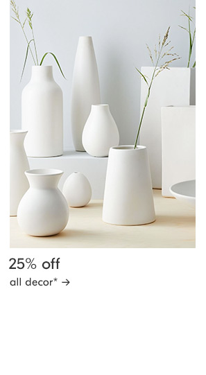 25% off all room decor