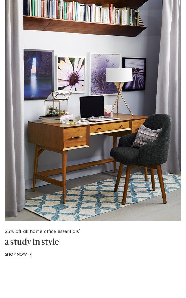 25% off all home office furniture