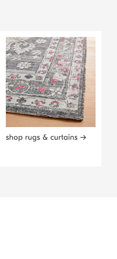 clearance rugs & curtains