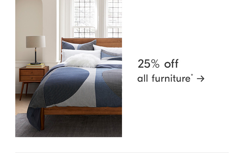 25% off all living room furniture