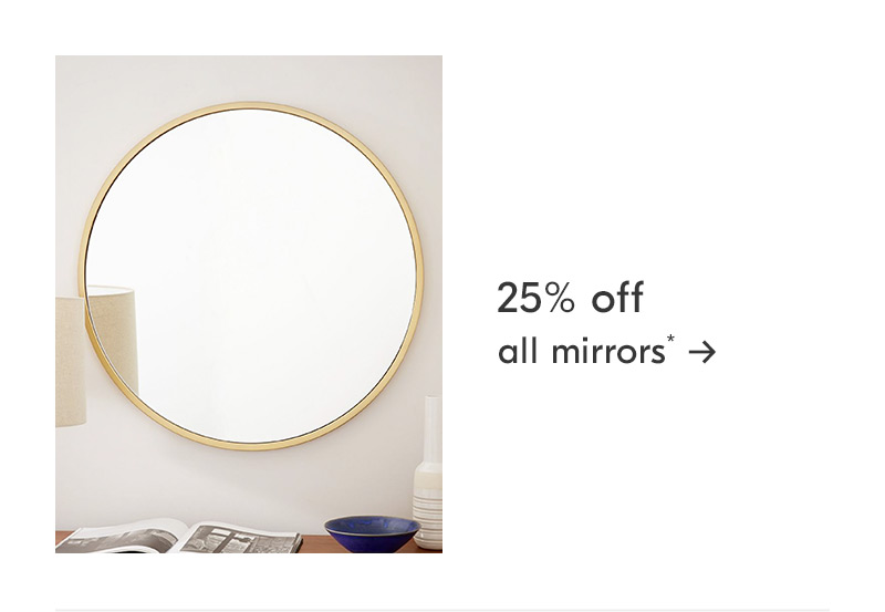 25% off all mirrors