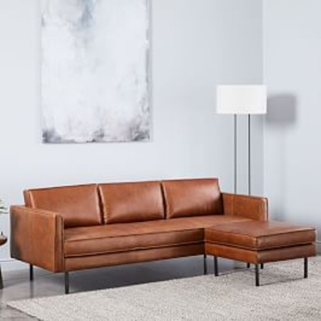 Axel 3 Seater Leather Sofa (226 cm) + Ottoman Set