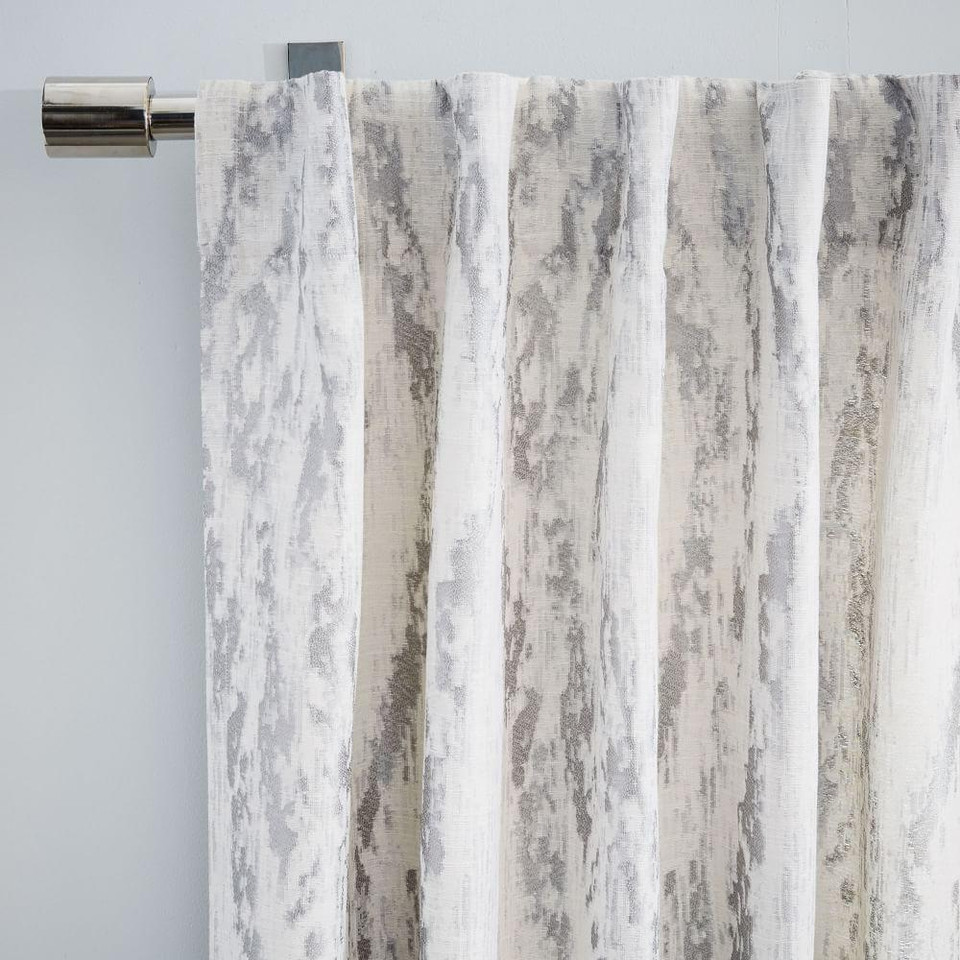 Bark Texture Jacquard Curtain