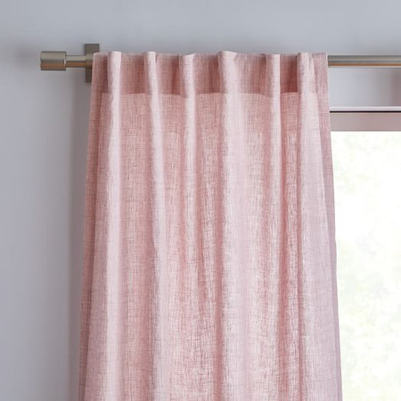 Belgian Flax Linen Curtain - Vintage Rose