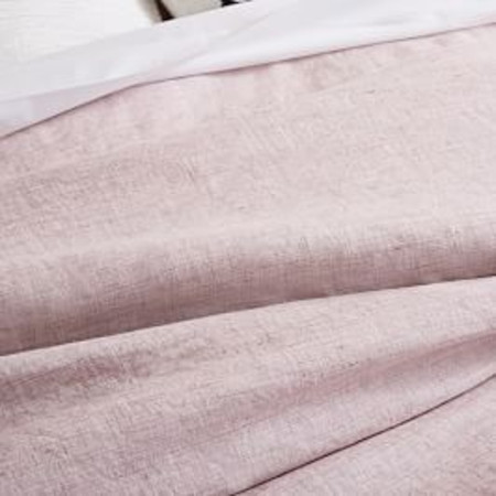 Belgian Flax Linen Fibre Dyed Quilt Cover & Pillowcases - Vintage Rose