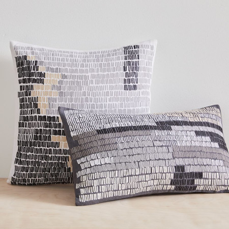 Binary Lines Cushion Cover