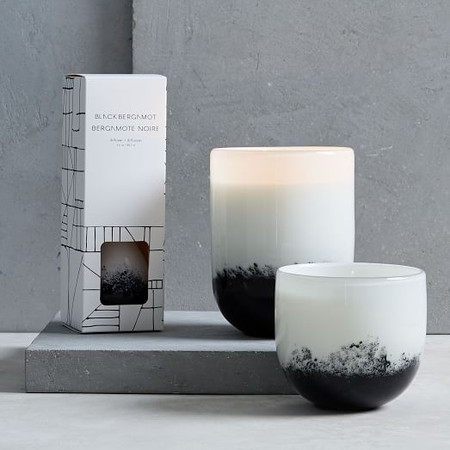 Black + White Speckled Glass Homescent Collection