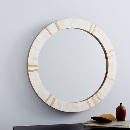 Brass + Bone Rays Wall Mirror