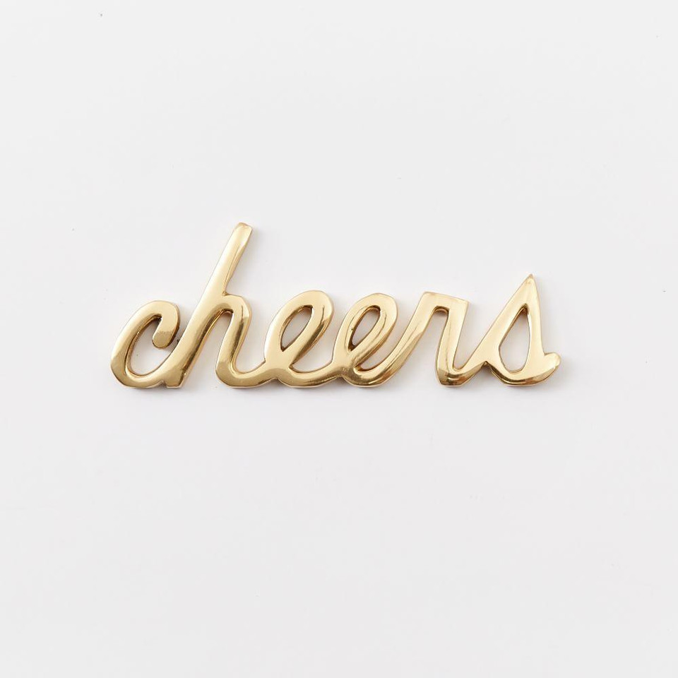 Brass Word Object - Cheers