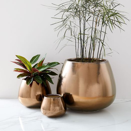 Ceramic Planters - Burnt Gold