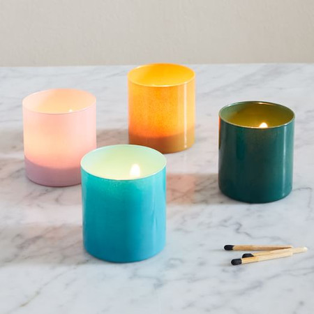 Coloured Glass Votives (Set of 4)