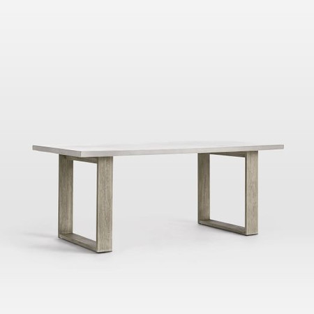Concrete Outdoor Dining Table - Weathered Grey