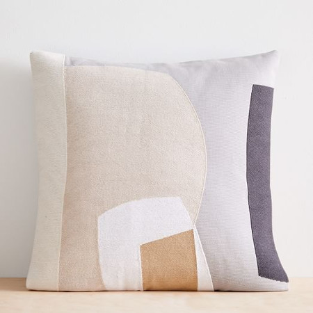 Corded Abstract Layers Cushion Cover