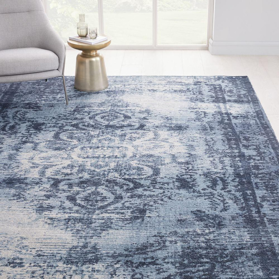 Distressed Arabesque Wool Rug