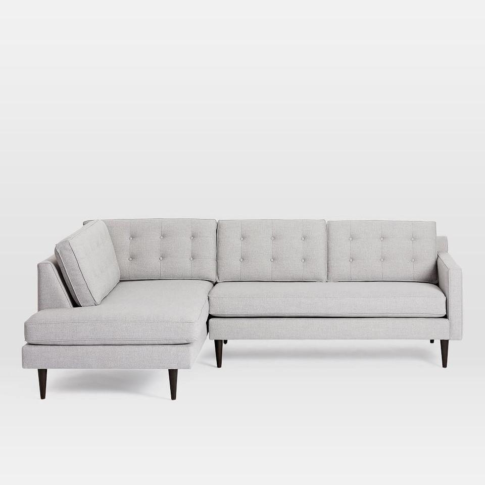 Drake 3 Seater Chaise Modular Sofa 254 Cm West Elm