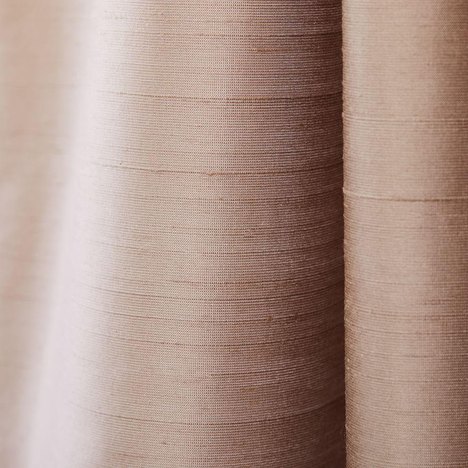 Dupioni Silk Curtain + Blackout Lining - Dusty Blush
