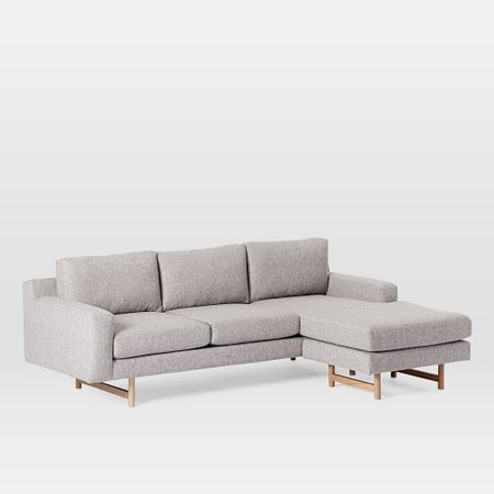 Eddy Reversible Sectional - Feather Grey (Deco Weave)