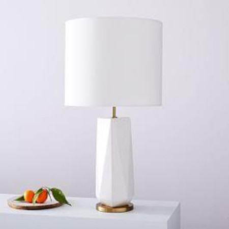 Faceted Porcelain Table Lamp (63 cm)