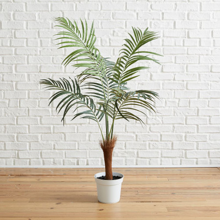 Faux Fan Palm Tree