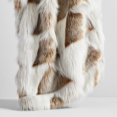 Faux Fur Stacked Arrow Throw