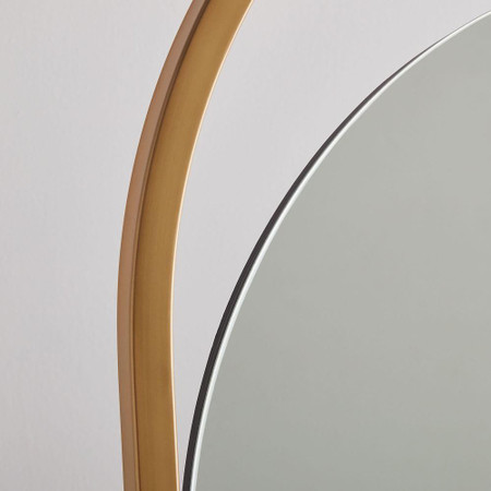 Folded Ellipse Standing Mirror