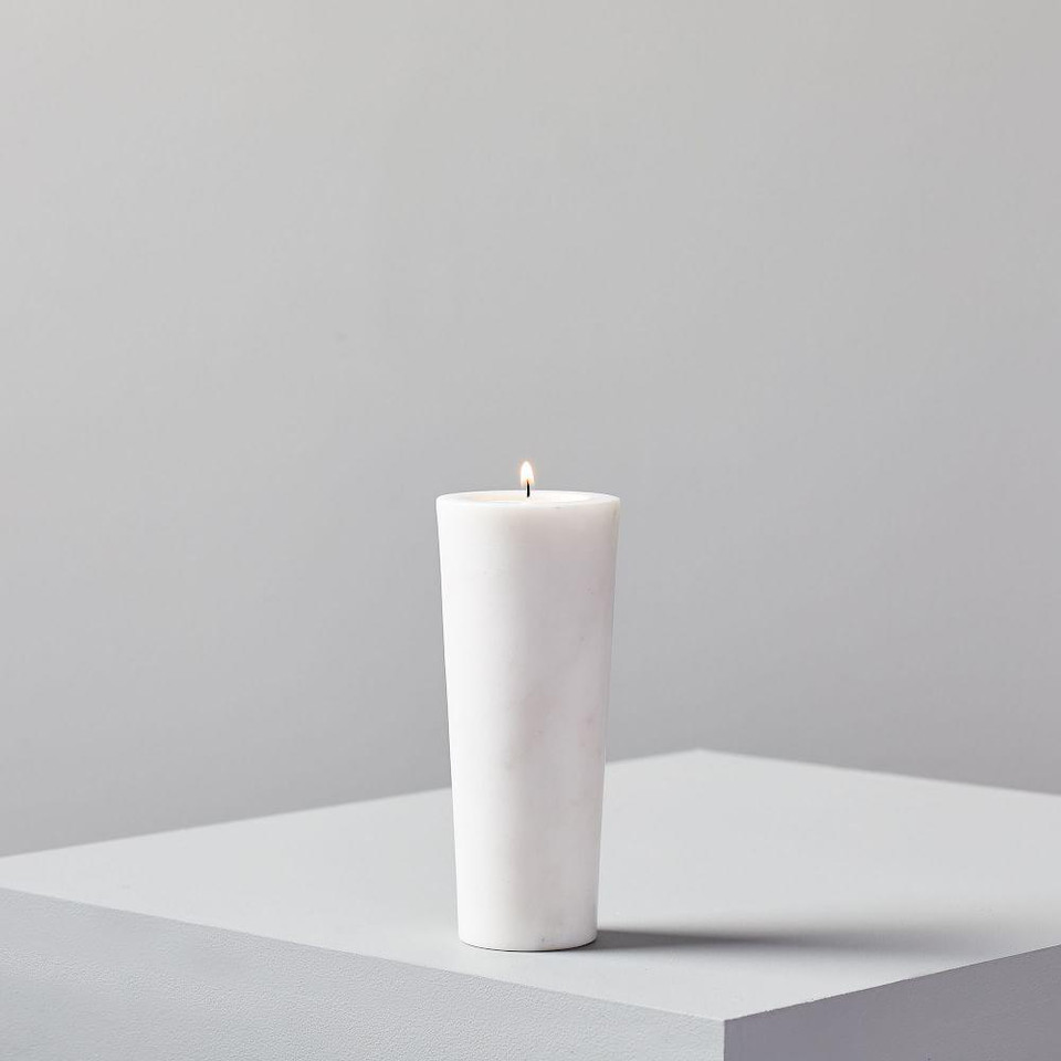 Foundations Reversible Marble Candleholder